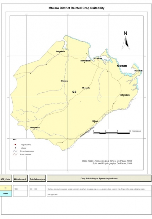 Mtwara Crops Suitability Map